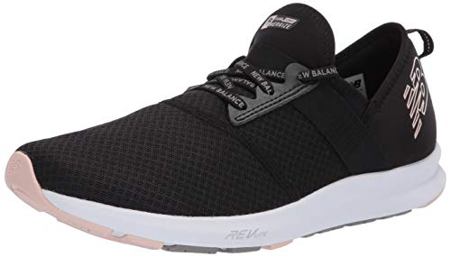 New Balance Women's FuelCore Nergize V1 Sneaker, Black/Smoked Salt/White, 8.5 M US