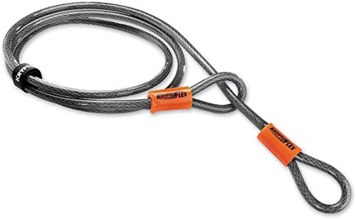 Kryptonite Kryptoflex - Cable de seguridad, color plateado/naranja - 213 cm, Ø 10 mm