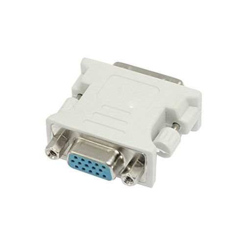 1 pieza DVI-I 24 + 5 Dual Link macho a VGA adaptador hembra Audio Vedio-A