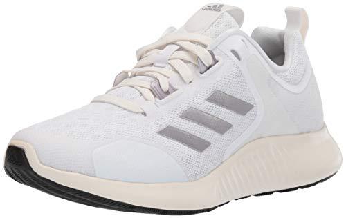adidas Women's Edgebounce 1.5 Running Shoe, White/tech Silver Metallic/Chalk White, 9.5 M US