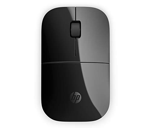 HP Z3700 Wireless Mouse, Precise Sensor, Blue LED Technology, 1200 DPI, 3 Buttons, Scroll Wheel, 2.4 GHz Wireless USB Receiver Included, Practical and Comfortable Design, Black