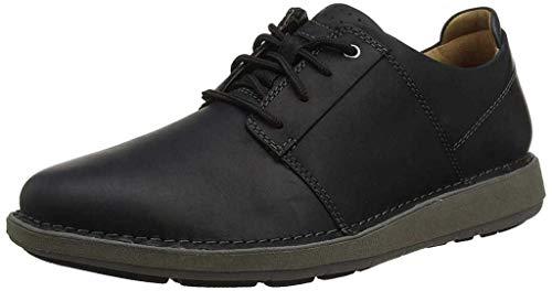 Clarks Un Larvik Lace, Zapatos de Cordones Derby Hombre, Piel Negra, 43 EU