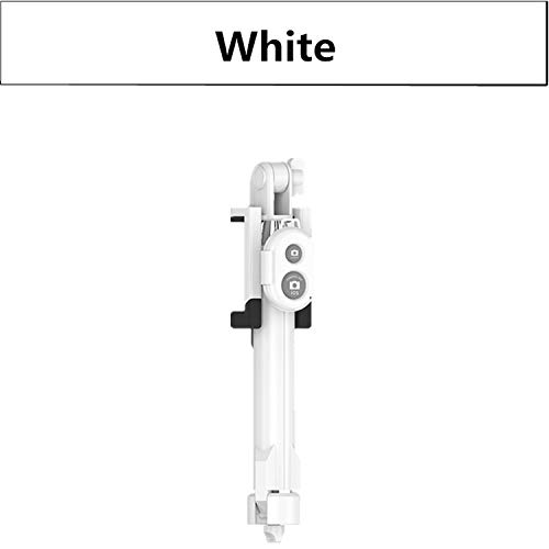 Treppiede monopiede Selfie Stick Bluetooth con pulsante PAU De Palo Selfie Stick per iPhone 6 7 8 Plus Android Stick, bianco