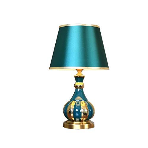 JYDQM Lámpara de Mesa Moderna Americana Simple Dormitorio Master Lámpara de Cama Lateral de Sala de Estar A Pocas lámparas Decorativas Dormitorio Lámpara de Mesa de cerámica