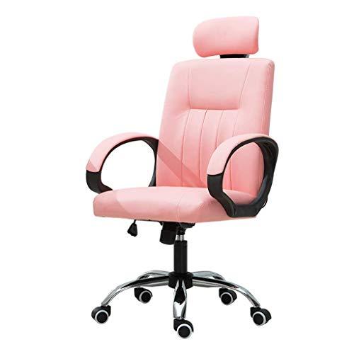 N/Z Équipement Quotidien Chaise D'ordinateur Fille Chaise Spéciale Personnel Féminin Chaise De Bureau Salon Chambre Chaise Chaise De Conférence Chaise De Bureau D'étude Rose 51cm * 51cm * 125cm