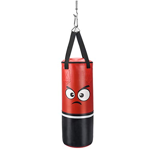 FIGOLO Punching Bag for Kids UNFILLED Set Kick Boxing Heavy Punching Bags MMA Training for Kickboxing, and Muay Thai for Kids