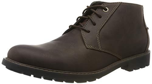 Clarks Men's Curington Over Klassische Stiefel, Braun (Dark Brown Leather), 44.5 EU