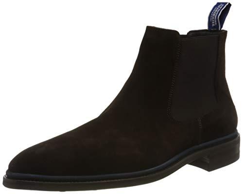 Floris van Bommel Herren 10669/02 Chelsea Boots, Braun (Dark Brown Suede 02), 40 EU