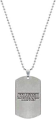 DUEJJH Co.,ltd Collar Etiqueta de Perro Collar Collares Pendientes de Acero Inoxidable Collar de Cuentas de TV Joyería de Moda para Mujeres Hombres Fans para Mujeres Hombres Regalo