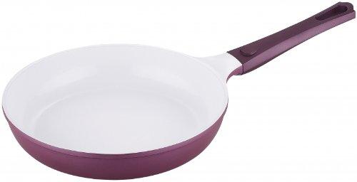 Bergner Bratpfanne Keramik, für Gasherde, Elektroherde, Halogen- und Induktionskochfelder violett