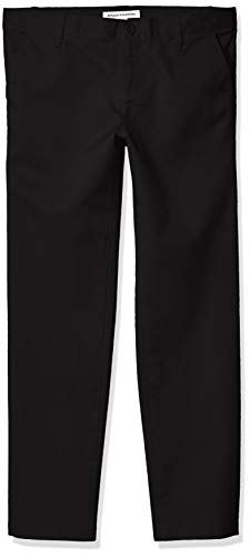 Amazon Essentials Plus Uniform Chino Pants, Negro, 10(P)
