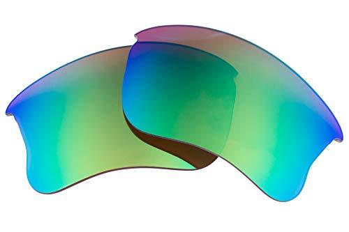 LenzFlip Oakley Flak Jacket XLJ 交換レンズ (Brown Polarized with Green Mirror)