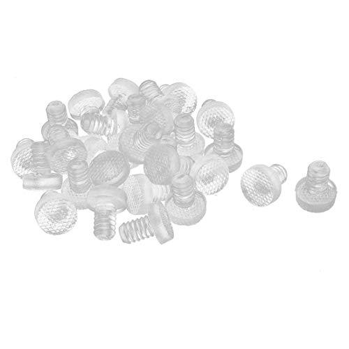 sourcing map 30 Stk 8 mm T-förmig Gummi Flaschenverschluss für die Versiegelung Klar DE de