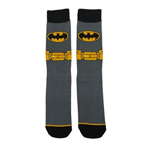 Clhbaih Flauschige Socken Socken Comics Heroes Kleid Socken Cartoon Superman Flash Mann Batman Amerika Casual Herren Socken (Color : 1 Grey)