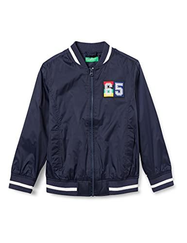 United Colors of Benetton (Z6ERJ) Giubbino 2BL553MT0 Chaqueta, Peacoat 252, M para Niños