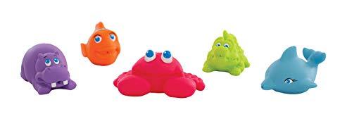 Playgro Spritztier-Set, 5 Stück, Mit bunten Unterwassertieren, BPA-frei, Ab 6 Monaten, Bunt, 40147