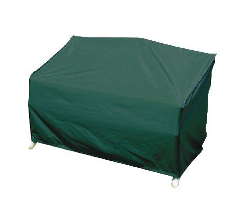 greemotion Schutzhülle für Gartenbank grün, winterfeste Gartenmöbelabdeckung, schmutzabweisende Regenschutzhülle, wasserabweisende Wetterschutz-Hülle, Wetterschutzhaube mit Zugband