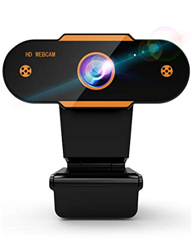 Webcam mit Mikrofon Full HD 1080P Streaming Webcam fur PC Laptop Mac Plug and Play Web Camera USB mit Autofokus und Weitwinkel Kamera fur YouTube Skype Videoanrufe Lernen Konferenz Spielen
