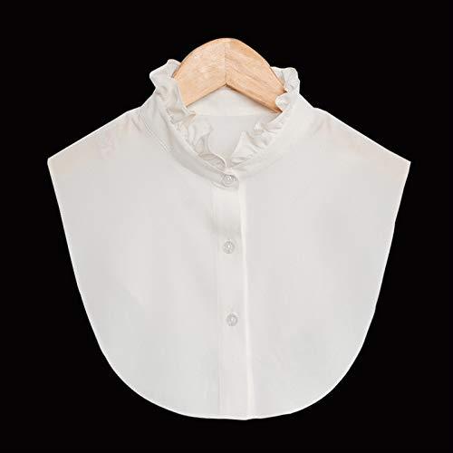 Ztengyu-Cuello de imitación Collares de muñeca extraíbles Dickey, Tiras Collares Falsos para niños, Blusa Collar Falso para suéter Accesorios de Ropa (Color : 0012 Women)