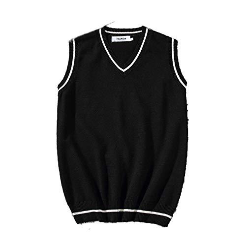 Outwears Mens suéteres 2020 Otoño Hombres Nuevo Suelto Jersey de Punto Chaleco Suéter Casual Guapo Tendencia Estudiante Chaleco Suéter Abrigo