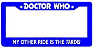 ClustersNN Doctor Who My Other Ride is The Tardis Chrome License Plate Frame Stainless Metal Tag Holder 12