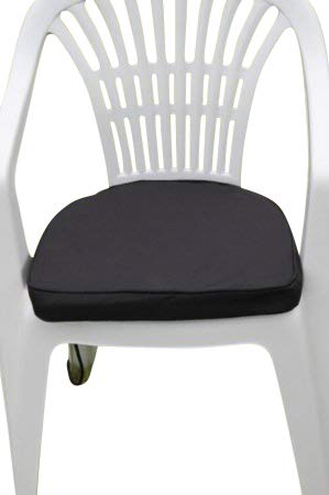 Garden Market Place Coussin D pour Chaise de Jardin en Plastique Noir 95 x 45 x 35 cm