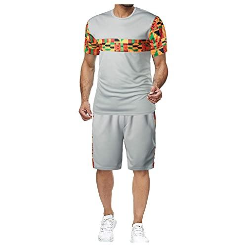 AWDX 2021 Herren Kinder Junge Jogginganzug Sportanzug Fitness Fitnessanzug Streetwear Outfit Rundhals T-shirts mit Kurzarm Jogginghose Comfort Fit Einfarbig und Patchwork Sportbekleidung Männer