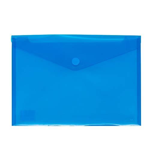 Grafoplás 04872230. Sobre plástico tamaño folio - 12 unidades color azul