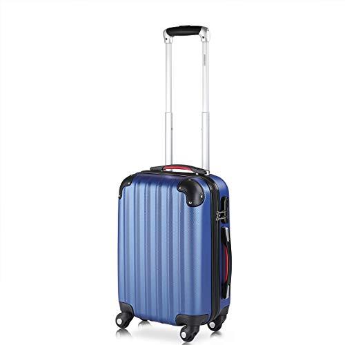 Monzana Maleta rígida Baseline M Color Azul Equipaje de Viaje 38L Peso 2,25Kg con Ruedas 360° Trolley 2 Asas valija
