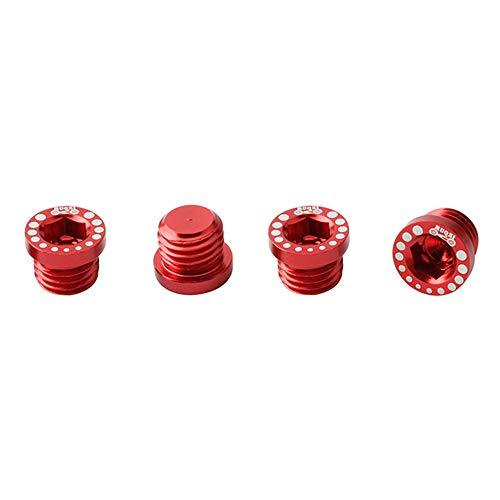 Ramble 4 Pezzi in Lega di Alluminio Bici V Foro del Freno Vite bullone Freni Viti di Montaggio Post Bicicletta Spina Base Freno per MTB a Scatto Fisso(Red)