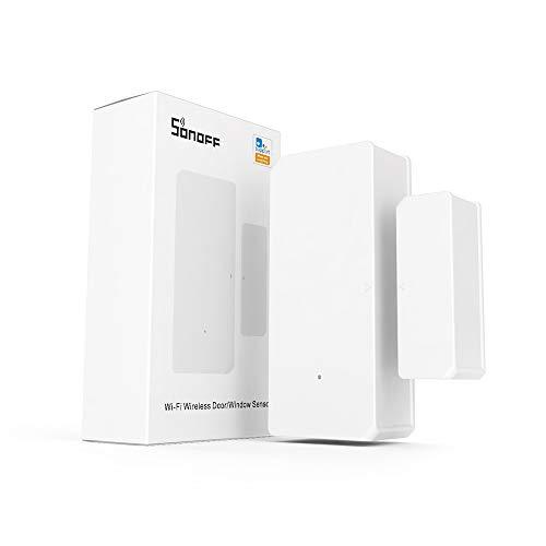 SONOFF DW2 Sensor Inalámbrico de Puerta/Ventana, Sistema de Alarma para la Automatización de la Seguridad del hogar, No Se Requiere Otro Dispositivo para su Funcionamiento