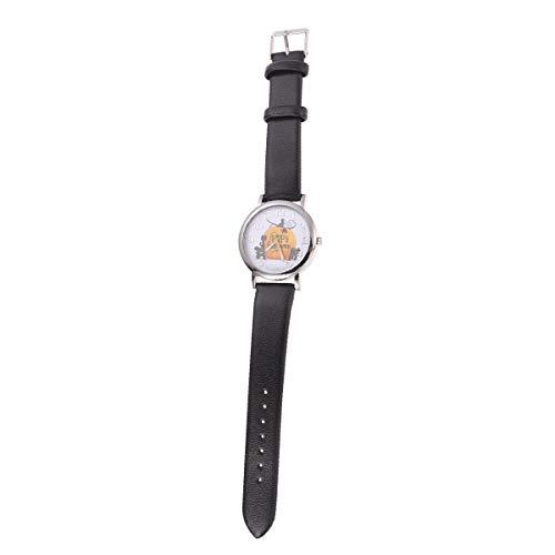 1PC Patrn de Calabaza de Halloween Reloj de Cuarzo Escala numrica Reloj de Pulsera de Regalo de Moda (Negro)-Disfraz de Halloween