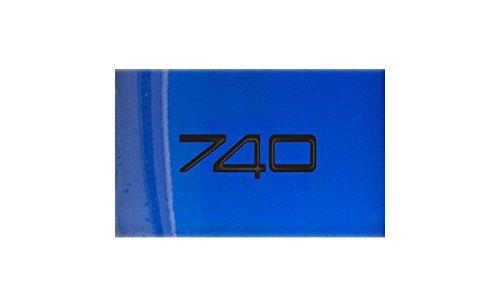 Volvo 740 blauwe laars A4 Metaal bord Aluminium