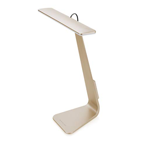 LEZI Plegable LED lámpara de Mesa Estilo de Moda Ultra-Delgada USB de Carga de Lectura lámpara de Mesa Mac Estudiante Dormitorio Aprendizaje Simple lámpara de Mesa,Gold