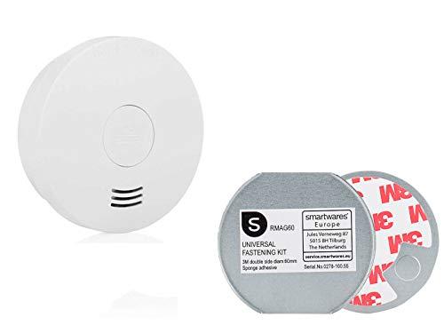 SMARTWARES rookmelder met batterij en magneethouder, VdS-gecertificeerd, Q-zegel