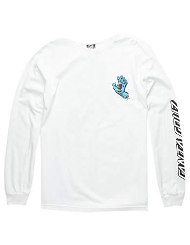 Santa Cruz Mens Screaming Hand Regular Long-Sleeve Shirt Large White