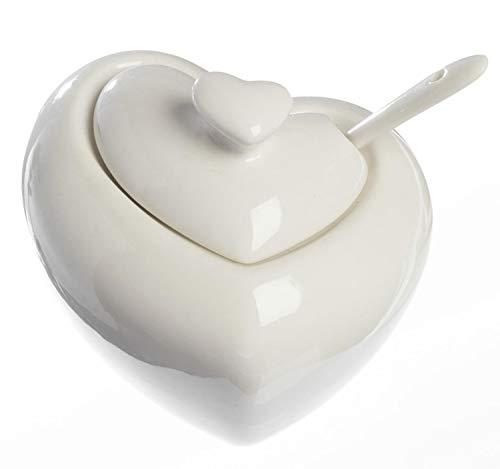 Zuccheriera porcellana a forma di cuore BOMBONIERA MATRIMONIO