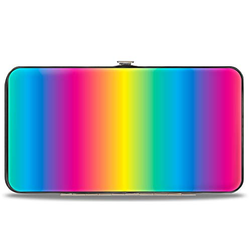 Buckle-Down womens Buckle-down Hinge - Rainbow Ombre Wallet, Multicolor, 7 x 4 US