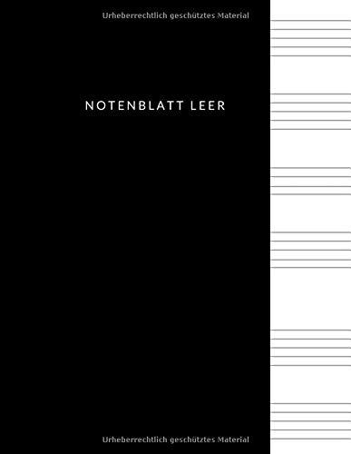 Notenblatt Leer: Dickes Notenbuch, leeres Notenblatt Papier