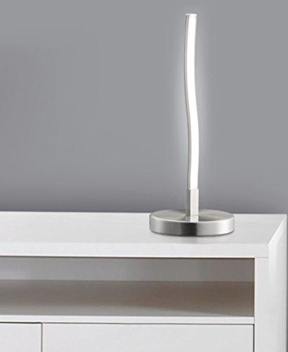 1er Pack 2017-91 Design LED Deko-Tischleuchte wellenförmige *WAVE* Lichtleiste geschwungen Form Tischlampe, Nachttischlampe, Lampe inkl. 6 Watt - 400 Lumen LED Leuchtmittel 3000K warmweiß