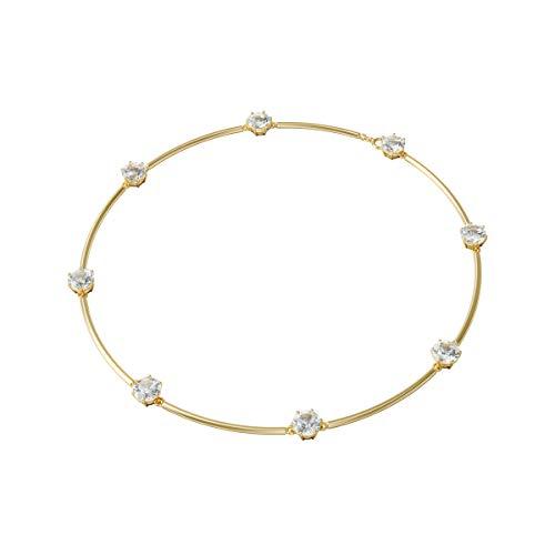 Swarovski Gargantilla Constella, Blanco, Baño tono oro