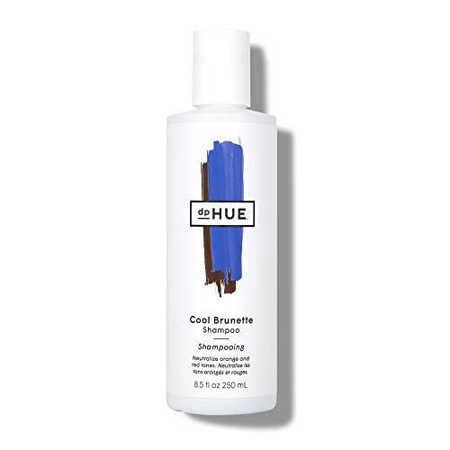 dpHUE Cool Brunette Shampoo, 8.5 oz - Blue Pigments to Neutralize Unwanted Orange, Red, Brassy Tones - Moisturizing Shampoo for Soft, Shiny Hair - Gluten-Free