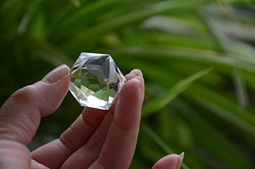 Natural Tibet Himalayan High Altitude 99% Water Clear Crystal Quartz 60 Sided Facet 1.18 Inch Disintegrator Pranic Energy Master Cut Wand Point Reiki Healing Spiritual