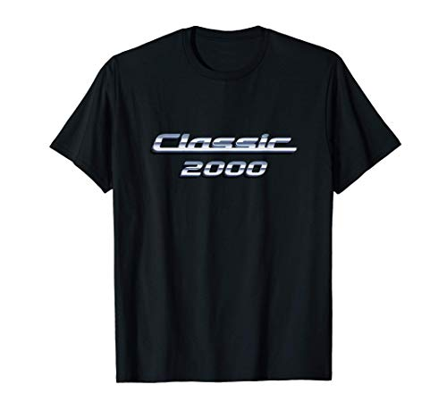Gift for 21 Year Old: Vintage Classic Car 2000 21st Birthday T-Shirt