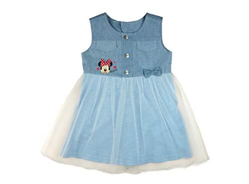 Minnie Mouse - Vestido de manga corta para bebé, diseño de Minnie Mouse, de algodón, talla 68, 74, 80, 86, 92, 98, 104, 110, 116, 122, informal, de verano, para 1, 2, 3 años Modelo 12. 110 cm