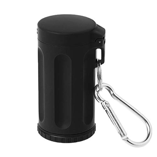 Piore Outdoor Roken Accessoires Draagbaar Mini Zakdeksel Asbak Winddicht Sleutelhanger Voor Reizen, zwart