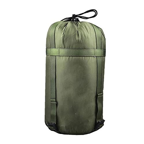 Saco De Dormir Ligero Bolsa De Almacenamiento De La Materia Saco De Excursión Que Acampa Backpacking Actividades Aire Libre Verde del Ejército
