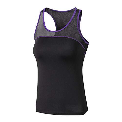 KFBSHEEF Chaleco Deportivo Ropa de Mujer Camisetas sin Mangas Deportivas Camiseta de Running para Mujer Compresión de Secado rápido Sin Mangas Deporte Mujer Novedades-Color4_L