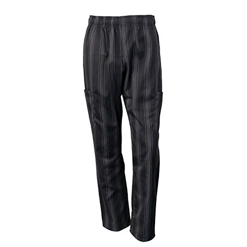 Chef Code Chef Pants, Triple Stripe Black Charcoal, 4X-Large