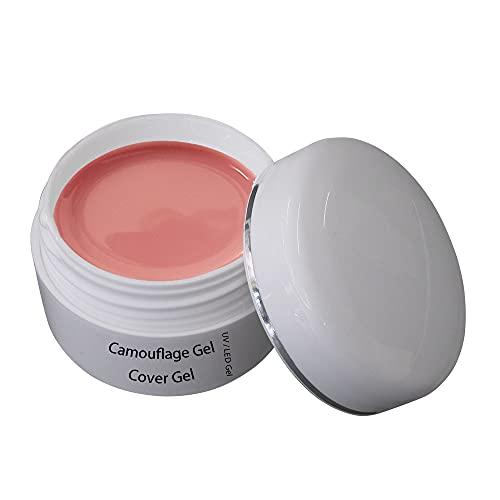 UV Cover Gel 30 ml – Camouflage Nagelgel Rosa – UV/LED härtend Aufbaugel NUDE für Naildesign und Nailart - Buildergel